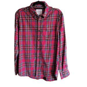 St John's Bay tartan plaid flannel cotton shirt
